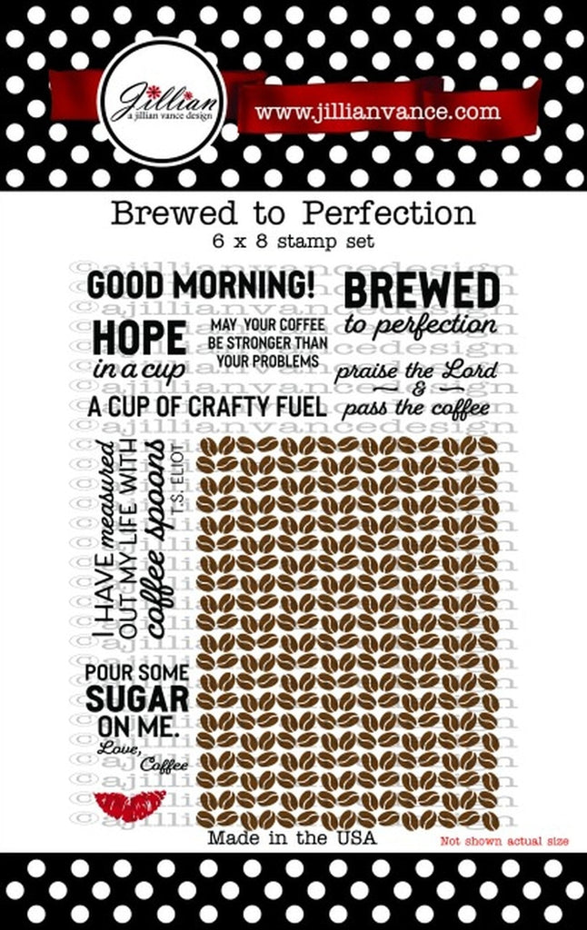 Brewed To Perfection Clear Stamps - A Jillian Vance Design