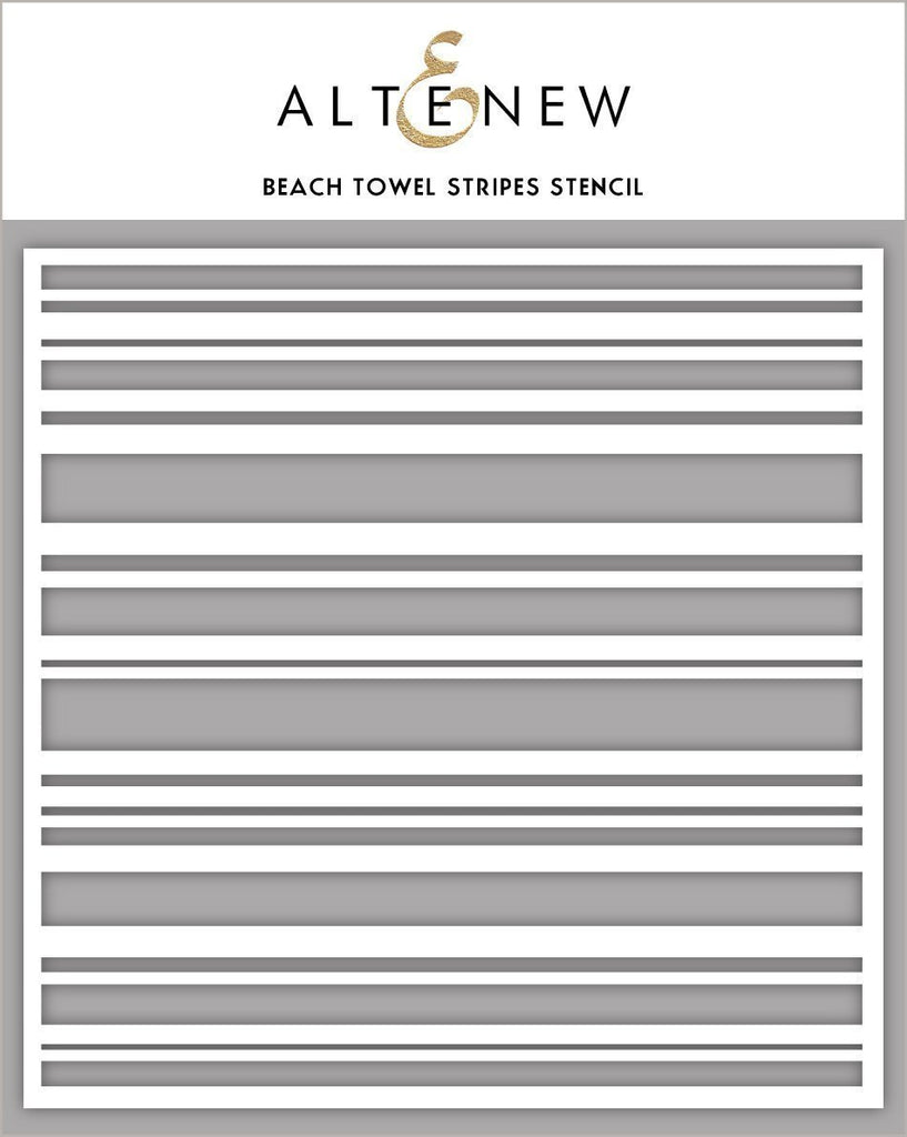 Beach Towel Stripes Stencil
