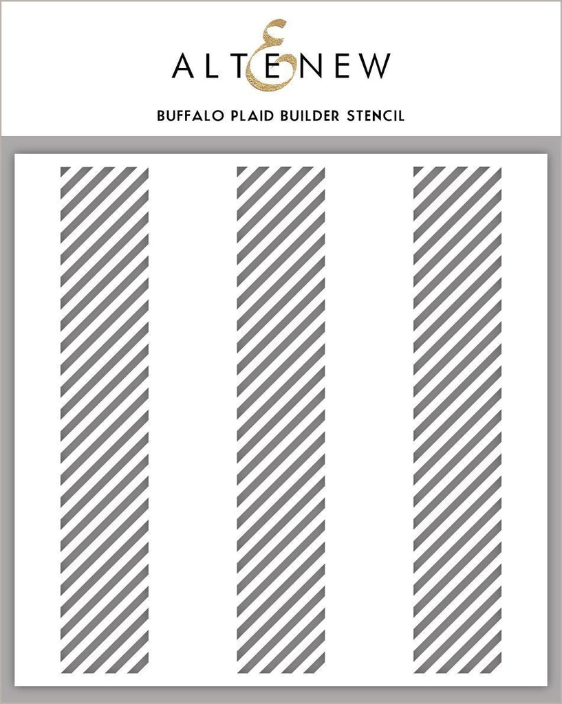 Buffalo Plaid Builder Stencil