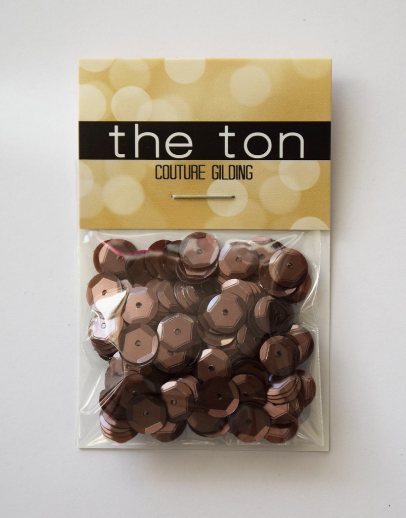 The Ton Burnt Caramel Sequins - Mixed Sizes