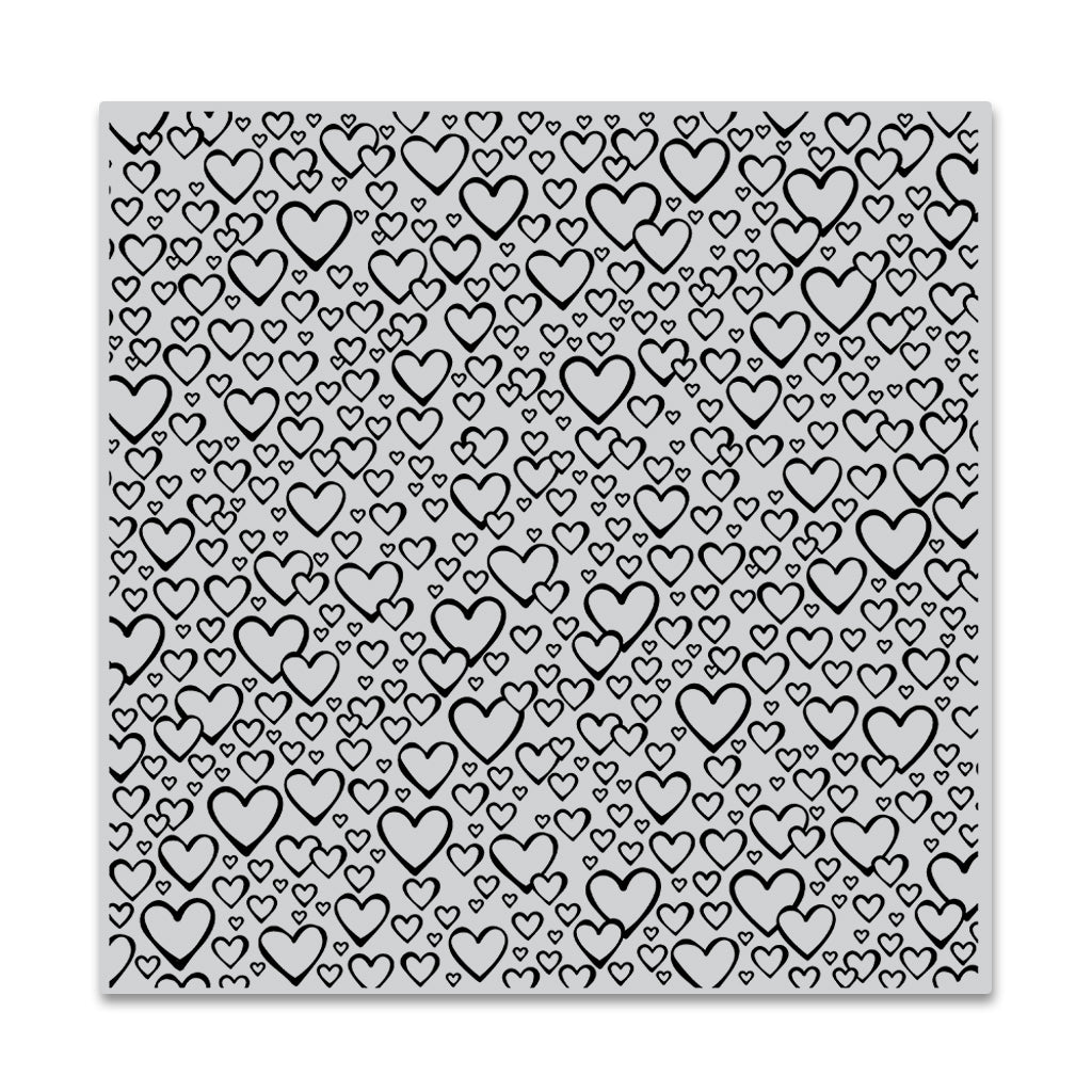 Bursting with Love Bold Prints Background Stamp