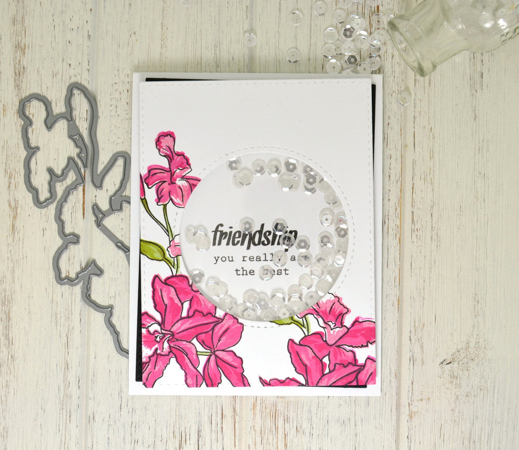 Build a Flower: Cattleya stamp, die and ink bundle