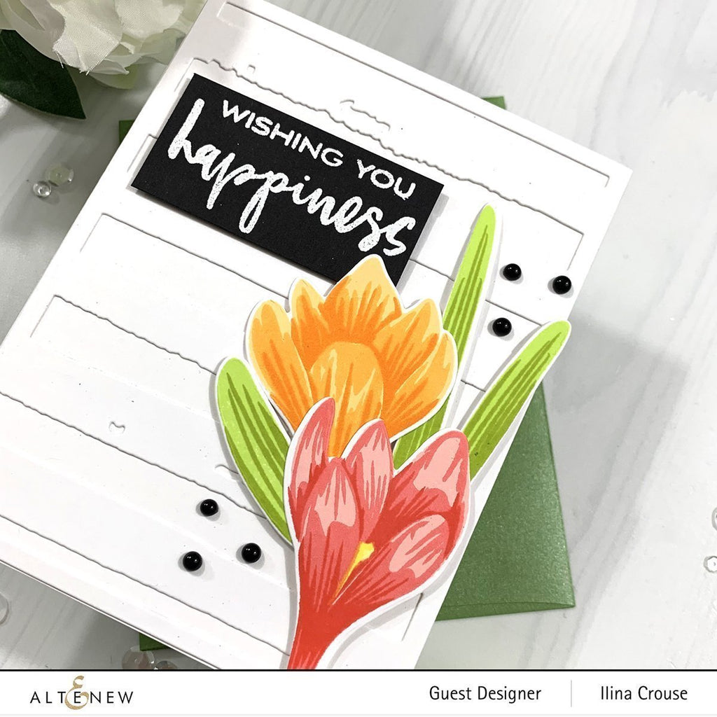 Build A Flower - Crocus: Stamp, Die and Ink set