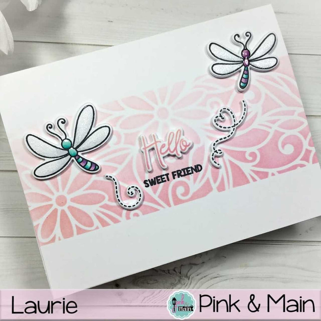 Daisy Bugs Clear Stamp Set - Pink and Main