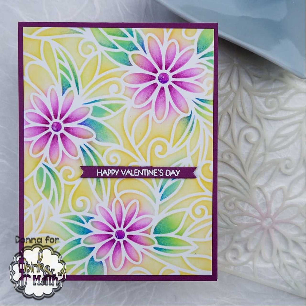 Daisies Stencil - Pink and Main