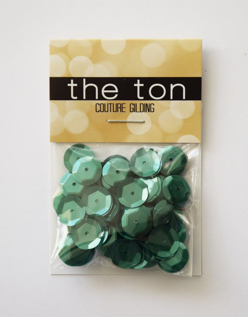 The Ton Deep Sage Sequins - Mixed Sizes