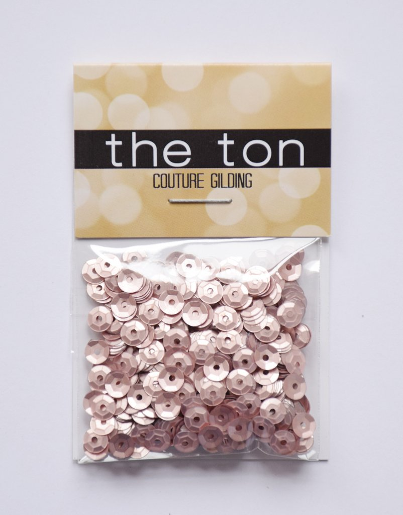 The Ton Dusty Pink Matte Sequins - 5mm
