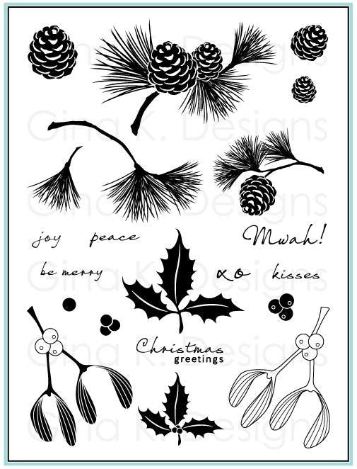 Festive Foliage Stamp Set - Claire Brennan for Gina K