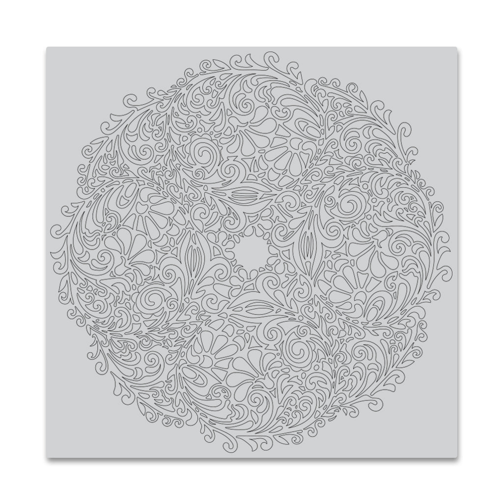 Floral Doily Bold Prints Background Stamp
