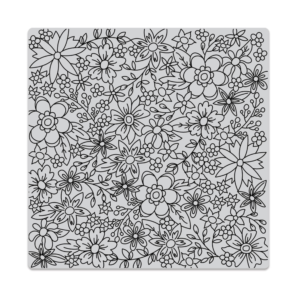 Flowers for Colouring Bold Prints Background Stamp