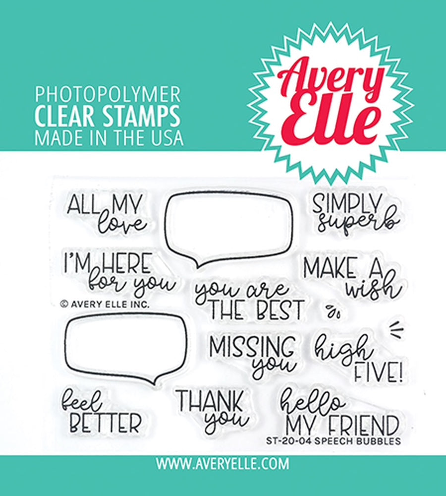 Speech Bubbles clear stamps - Avery Elle