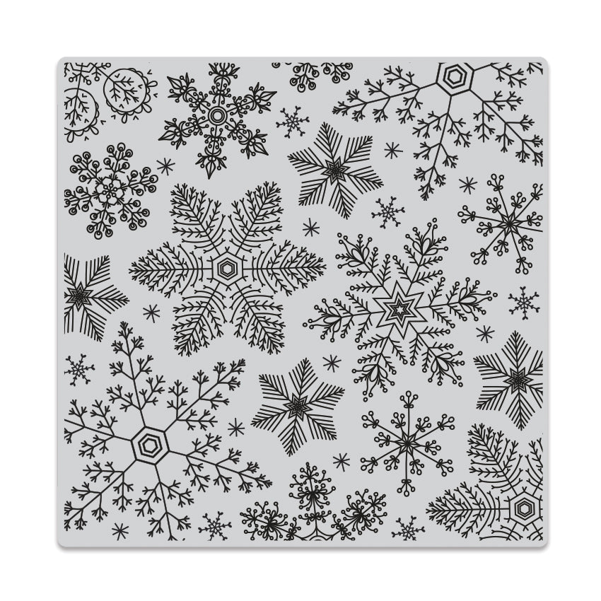 Hand Drawn Snowflake Bold Prints Background Stamp