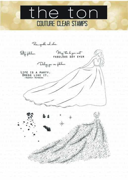 Haute Gala Dress Clear Stamps