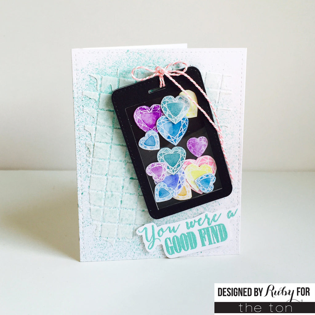 Heart Diamonds Clear Stamps