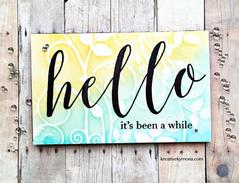 Brushed Hello - The Ton Clear Stamps