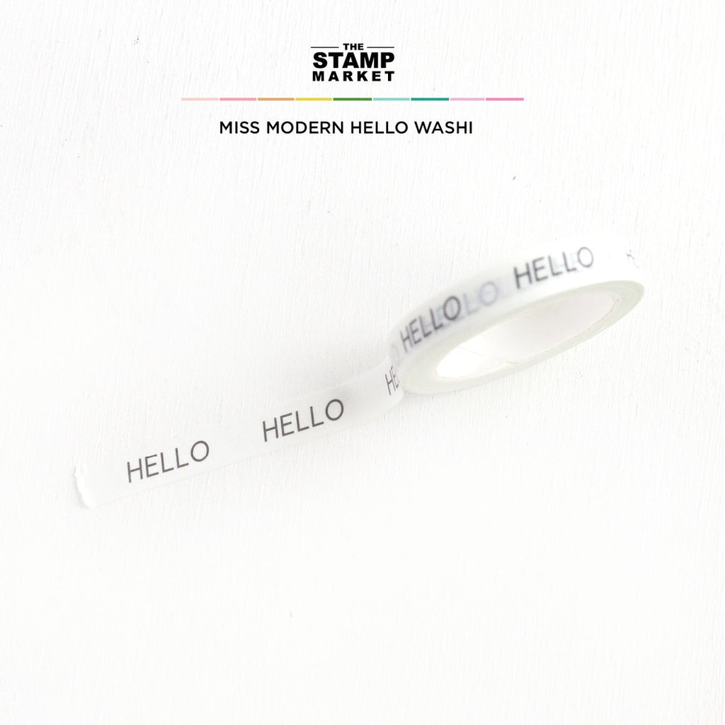 Miss Modern Hello Washi - The Stamp Market