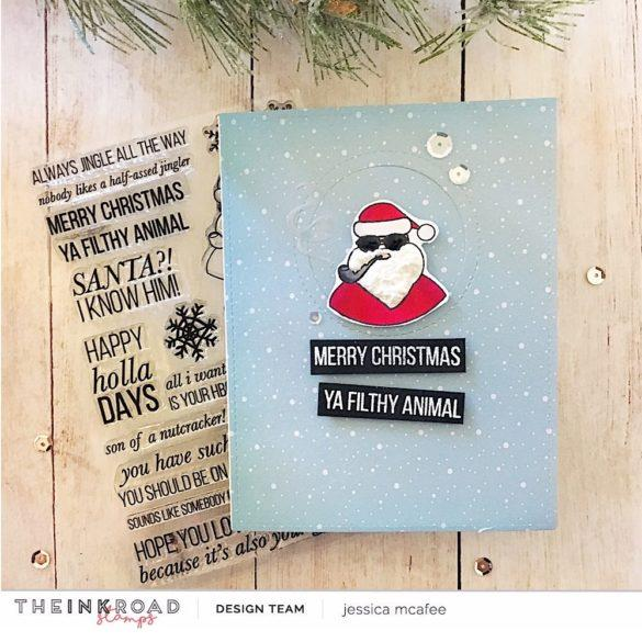 Happy Holla Days Christmas Clear Stamp Set | Ink Road Stamps
