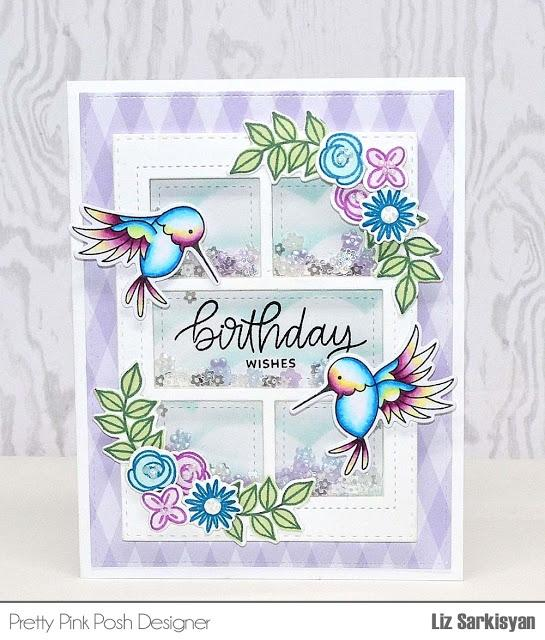 Hummingbird Thanks stamp set
