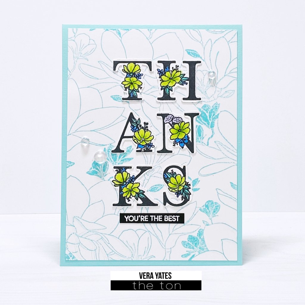 Floral Alphas - The Ton Clear Stamps