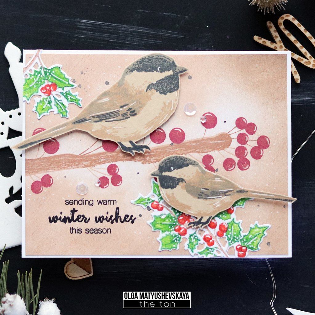Chickadee Greetings - The Ton Clear Stamps