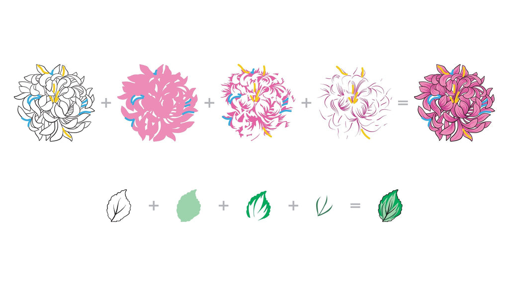 Build A Flower: Japanese Mum Stamp and Die set