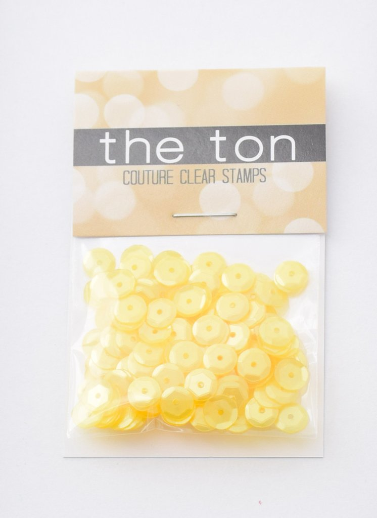 The Ton Lemon Chiffon Sequins - Mixed Sizes