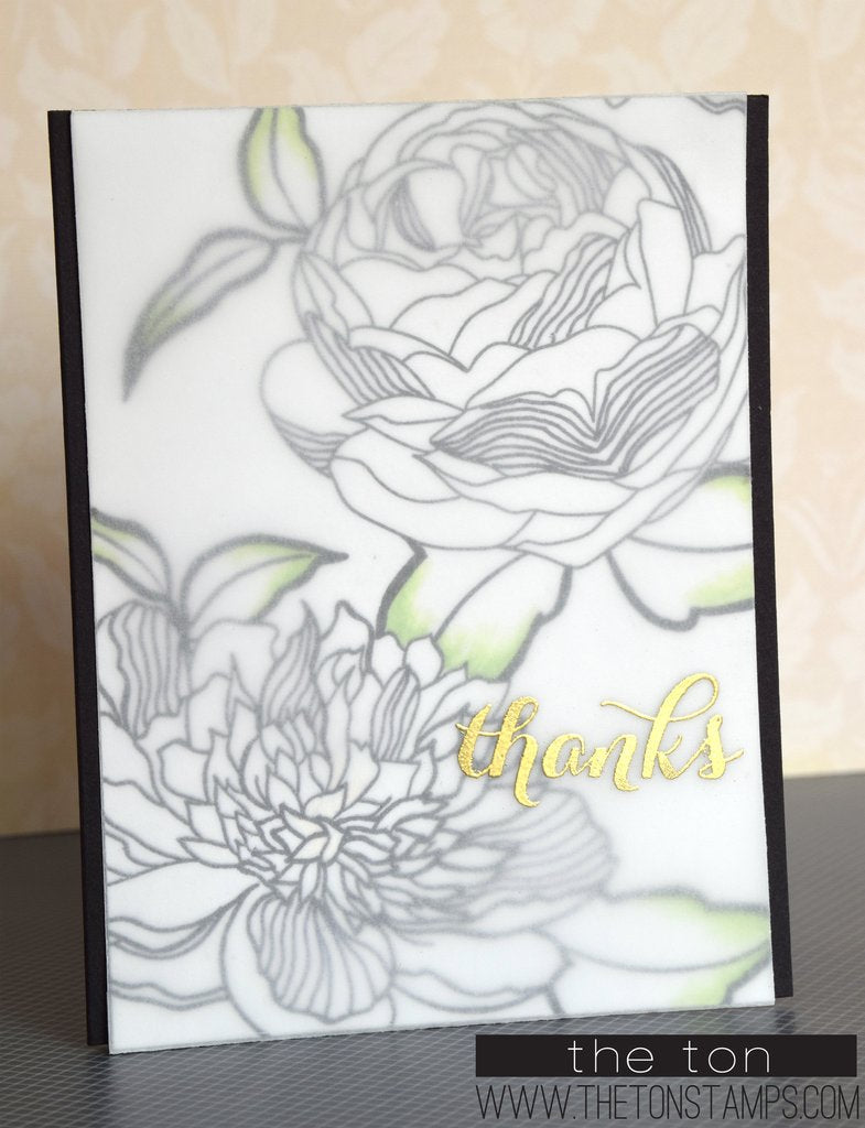 Large Peony 3 - The Ton Clear Stamps
