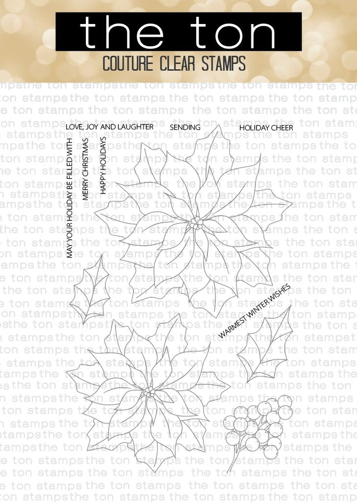 Loose Poinsettias - The Ton Stamps
