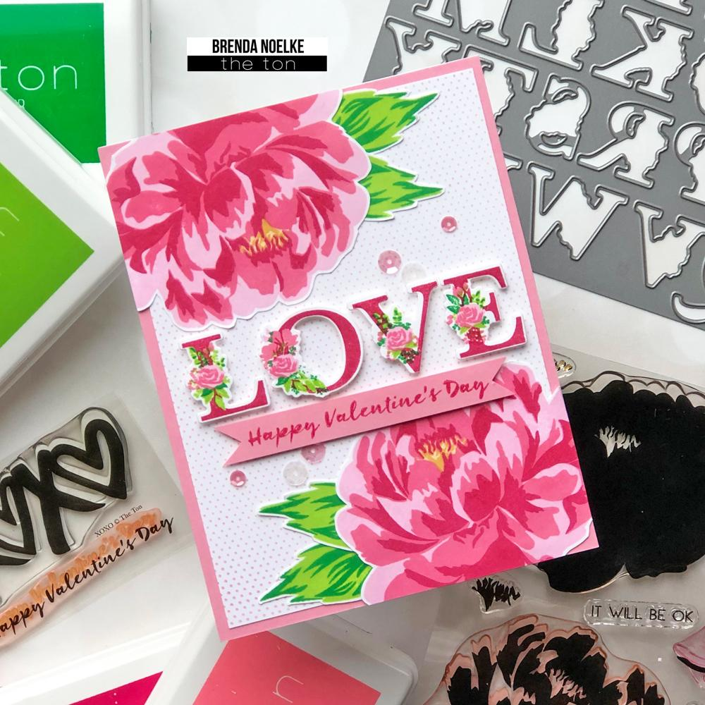 Layered Floral Alpha Stamp Bundle - The Ton Clear Stamps