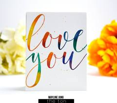 Brushed Love - The Ton Clear Stamps