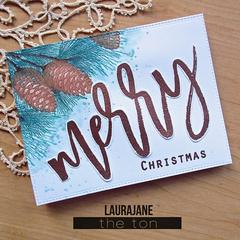 Brushed Merry - The Ton Clear Stamps