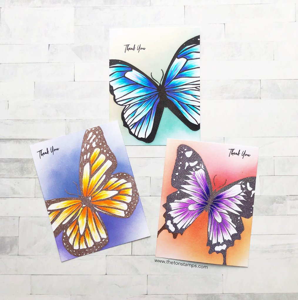 Butterfly Wings Morpho - The Ton Stamps
