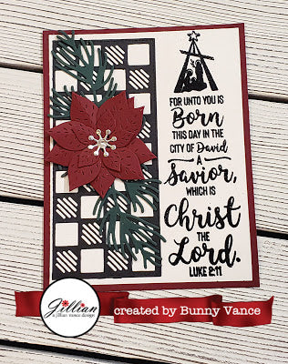 Nativity Bookmark Clear Stamp - A Jillian Vance Design