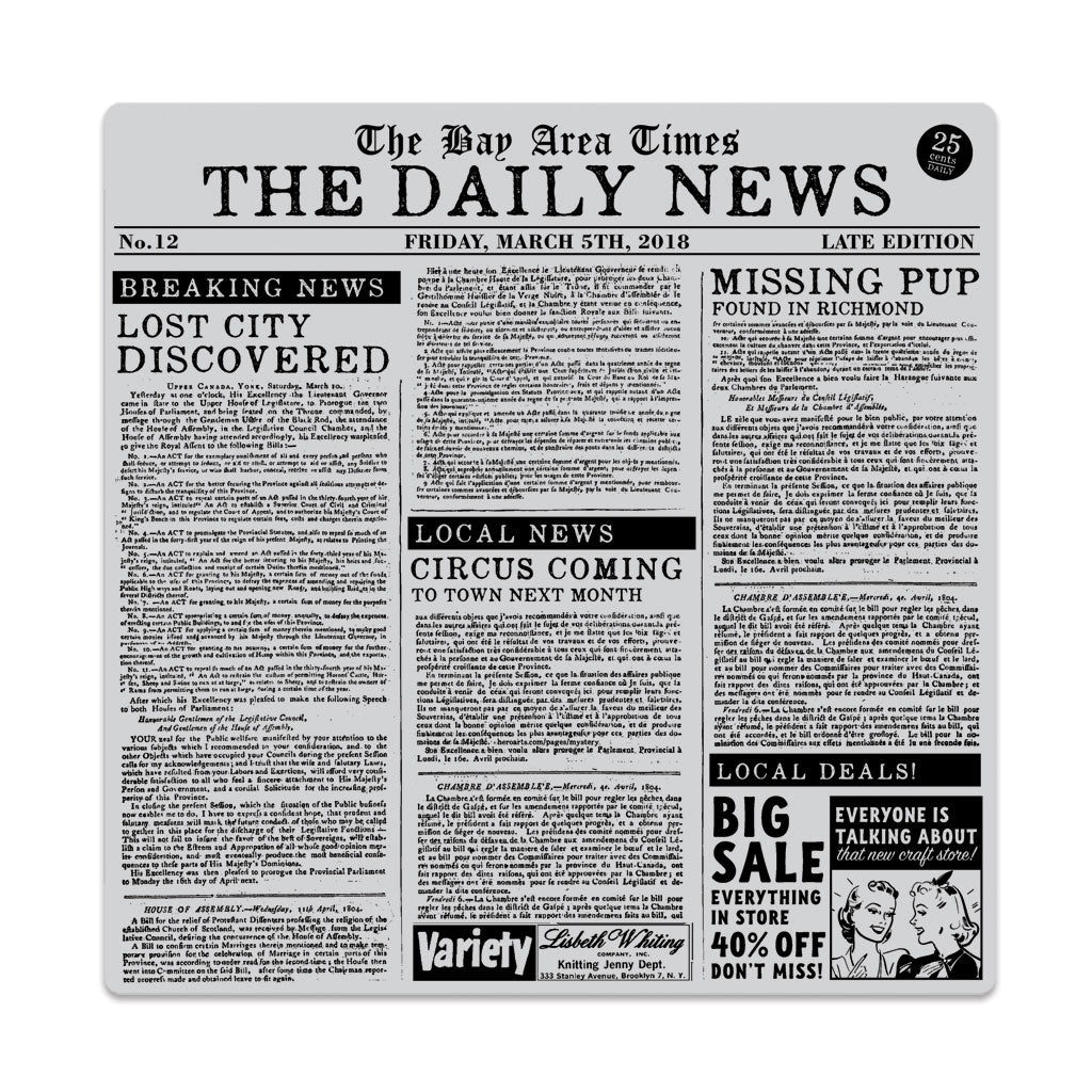 Newspaper Bold Prints Background Stamp