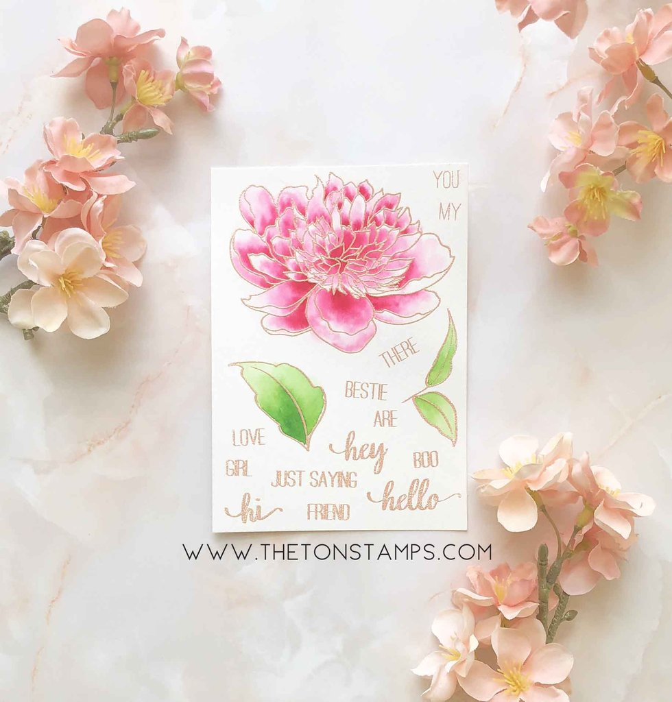 Large Peony 1 - The Ton Stamps