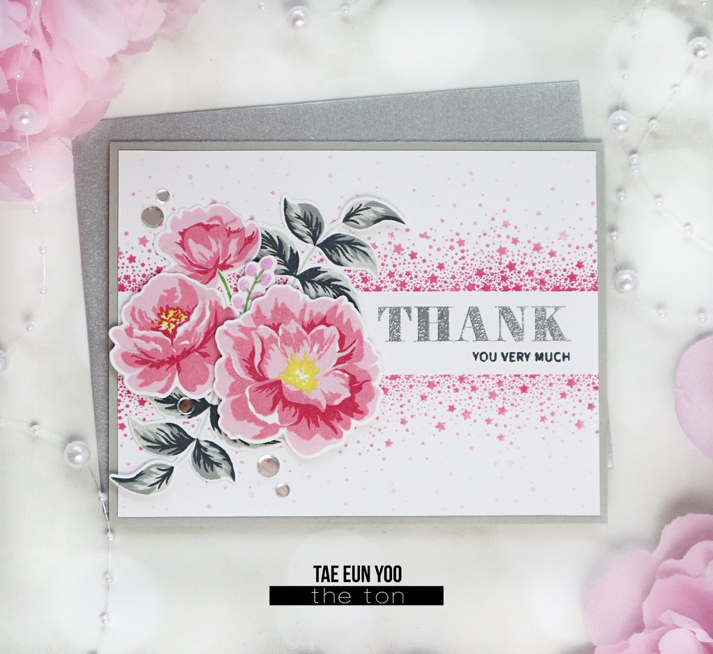 Peony Memories Clear Layered Stamp Set for Cardmaking - The Ton