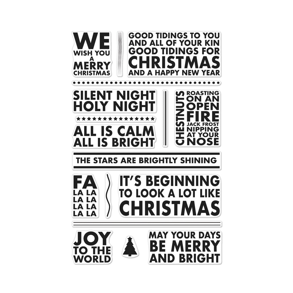 Poster Christmas Carols Polyclear Stamp Set