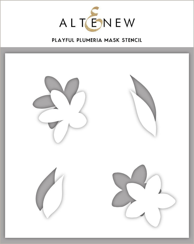 Playful Plumeria Stamp, Die and Mask Bundle