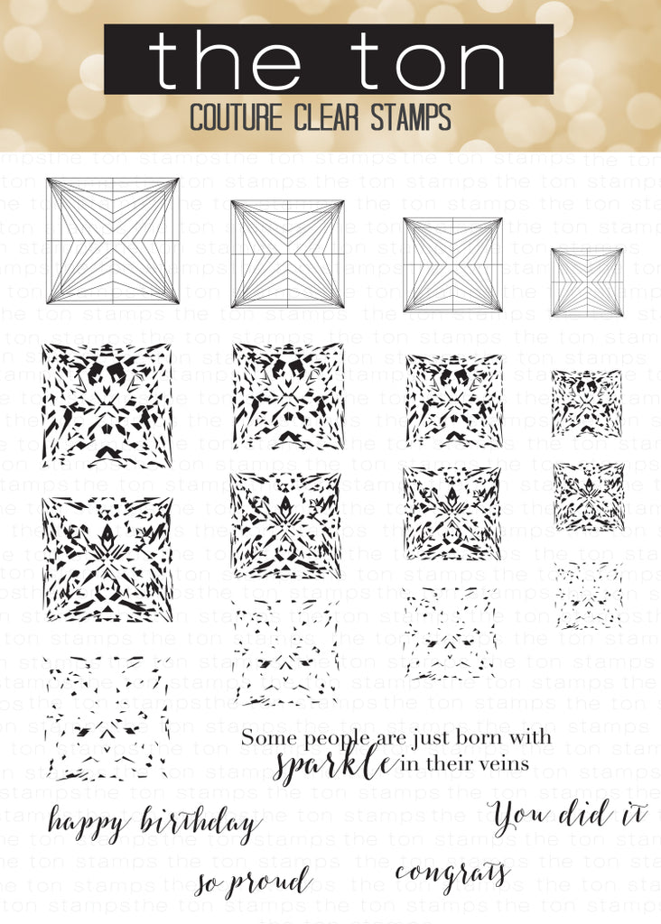 Princess Cut Diamonds Clear Stamps