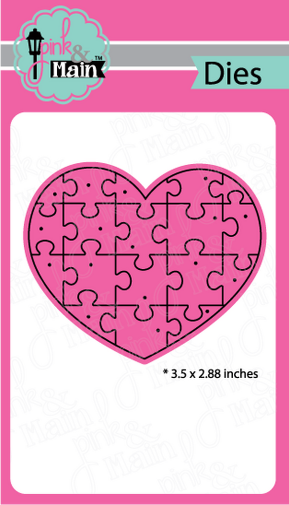 Puzzle Heart Die - Pink and Main