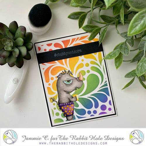 Caffeinated Rhino Clear Stamps - The Rabbit Hole Designs