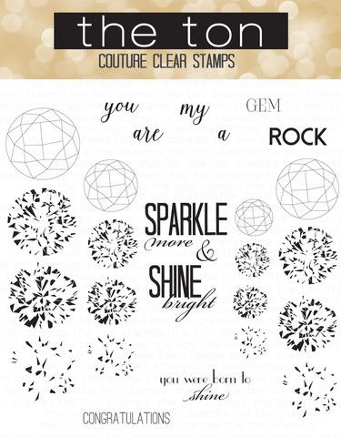 Round Diamonds Clear Stamps