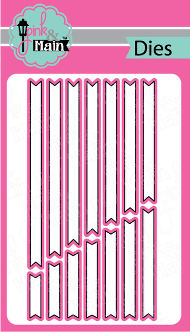Sentiment Strip Dies - Pink and Main