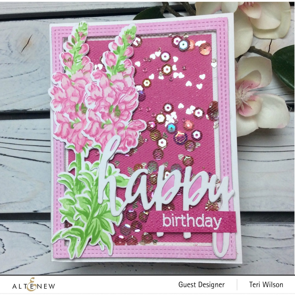 Build a Flower - Snapdragon Stamp, Die and Ink Bundle