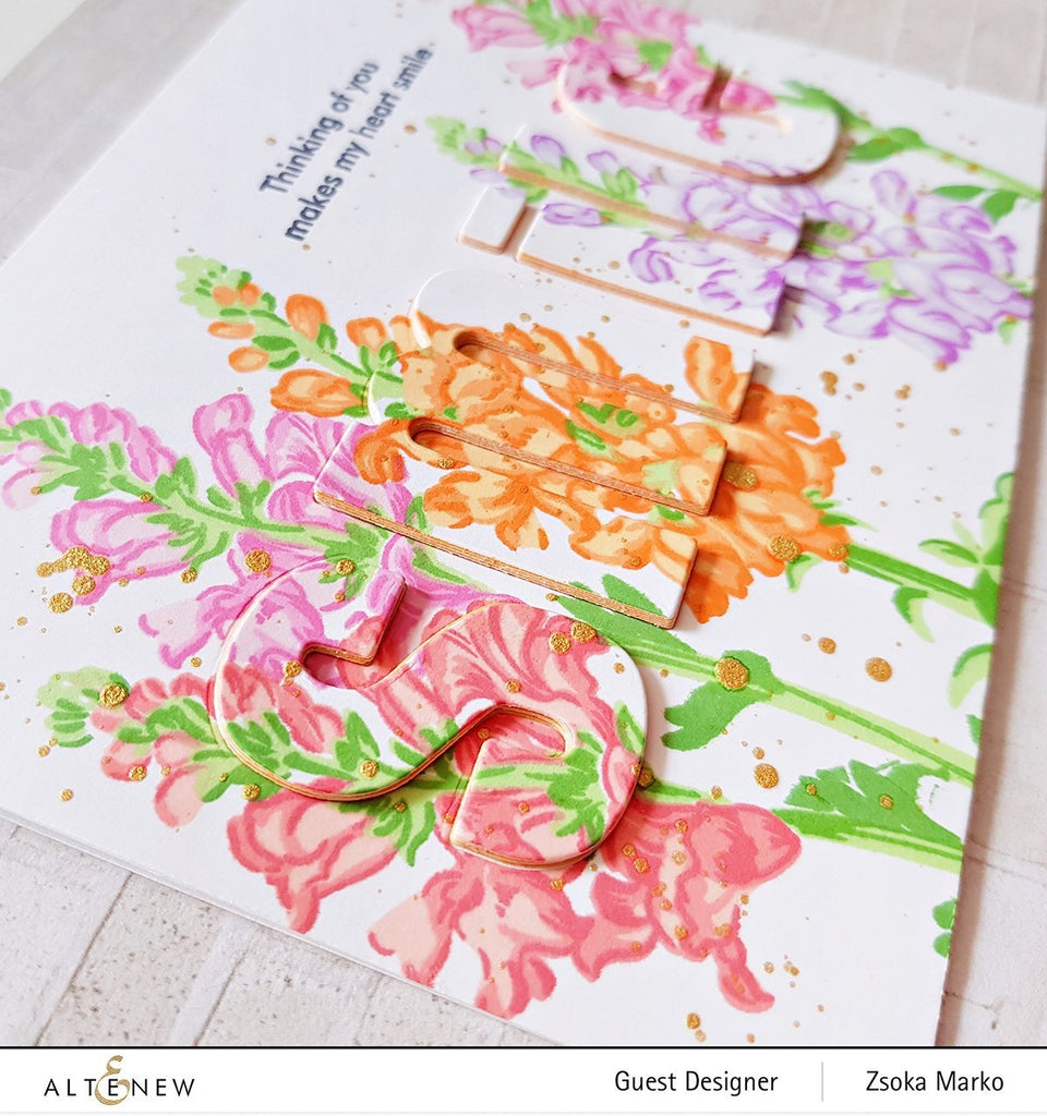 Build A Flower - Snapdragon Stamp and Die Set