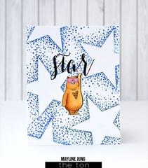 Bokeh Burst Star - The Ton Clear Stamps