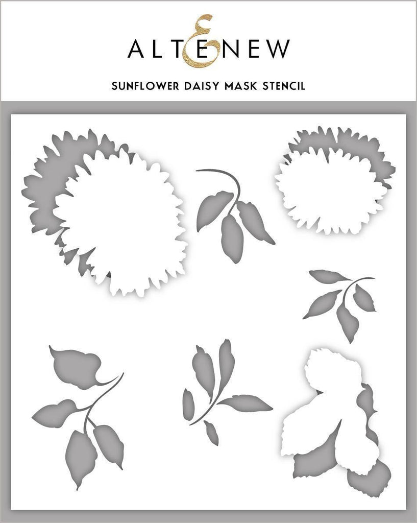 Sunflower Daisy Mask Stencil