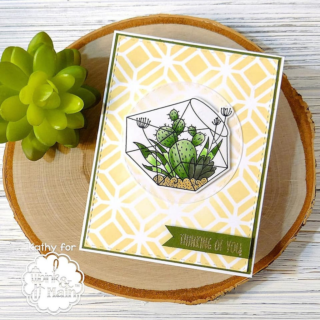 Terrariums Clear Stamp Set - Pink and Main