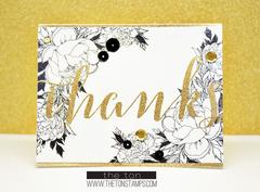 Brushed Thanks - The Ton Clear Stamps