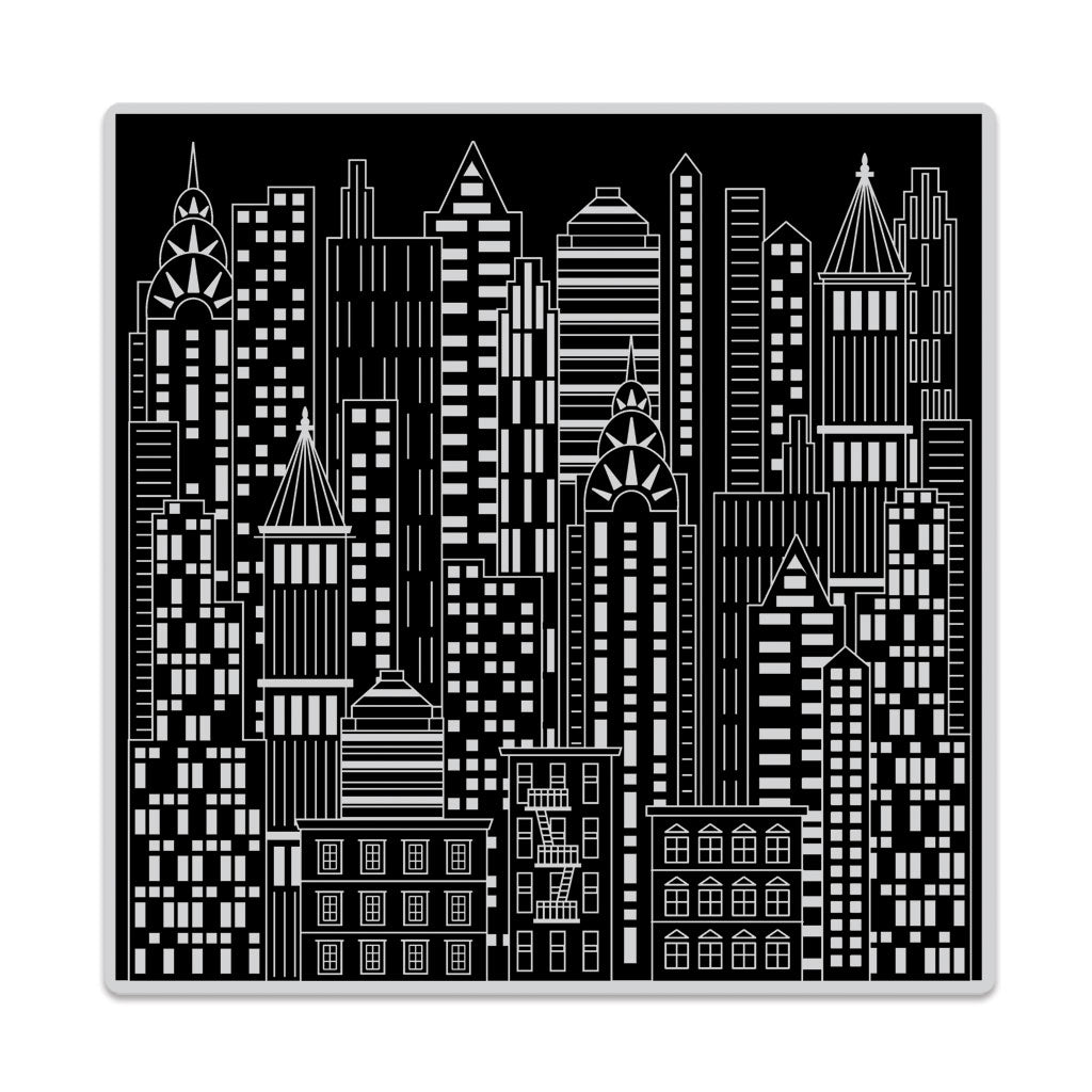 Urban Skyline Bold Prints Background Stamp